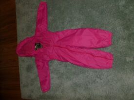 Pink Trespass Girls All in One Padded Rainsuit 3/4 years ***£5 ***