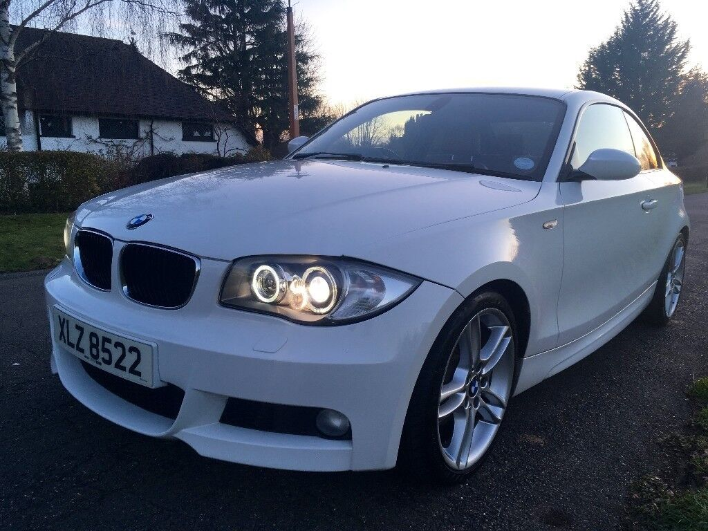 120d Coupe Automatic, Alpine White, Red Leather, Xenon, Bluetooth, Heated Seats, Parking Sensors