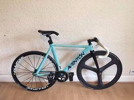 fixie bicycle custom aventon mataro low trispoke