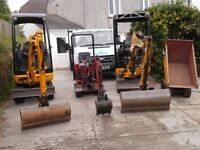 SPR MICRO and MINI DIGGER HIRE and LIGHT HAULAGE. MID CORNWALL AREA