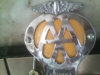 aa car badge, nice looking for a collecter,