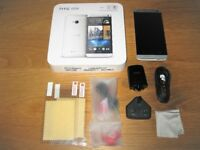 HTC One M7 Silver Boxed Complete (Unlocked)
