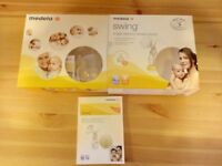 Medela electric breast pump, used few times, includes all the parts, manual and its original box.