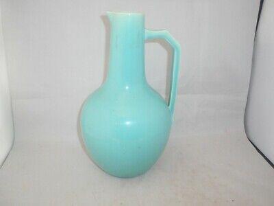 CHRISTOPHER DRESSER for SAMUEL LEAR Antique Pottery Turquoise Blue Jug