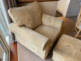 Armchair and Matching Footstool