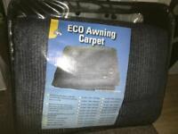 Tent carpet awning
