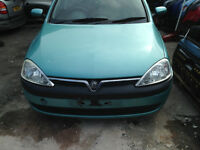 BREAKING - VAUXHALL CORSA C - FRONT BUMPER - ALL PARTS AVAILABLE