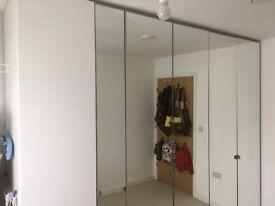 Beautiful PAX Wardrobe - 3 modules -Mirror doors