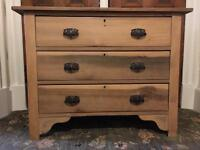 Solid Wood 3 Drawer Chest of Drawers.