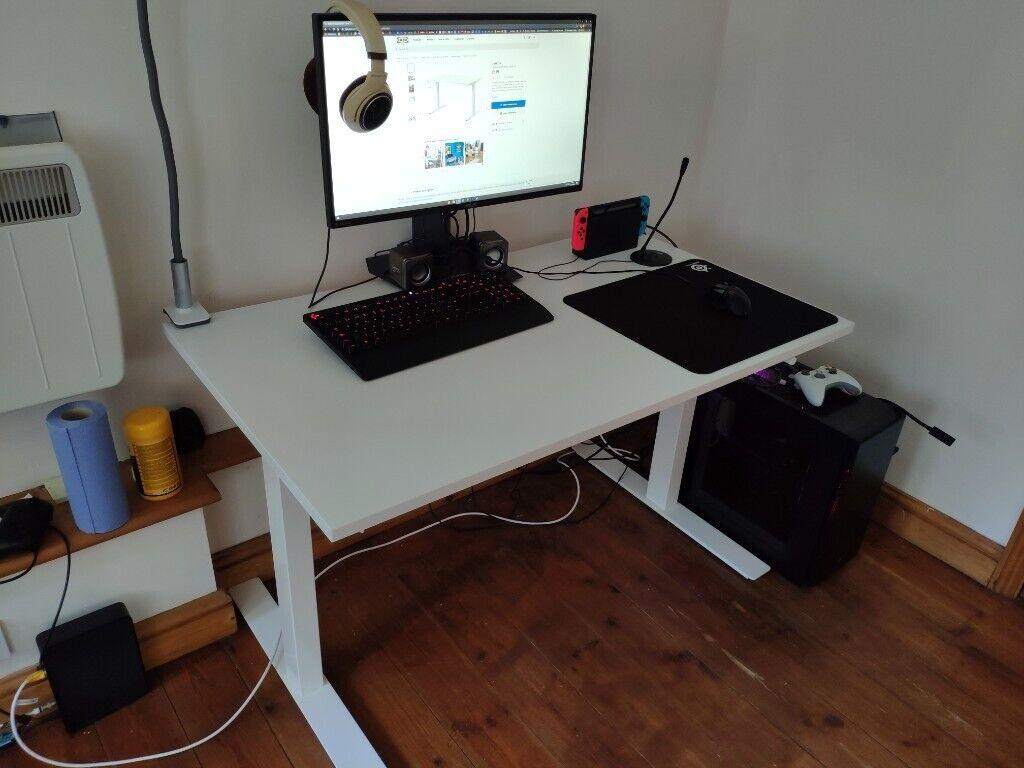 Ikea Desk Sit Stand Adjustable 120x70 Cm In Norwich Norfolk
