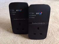 BT Broadband Extender Flex 500 Powerline Adapter Kit MINT CONDITION