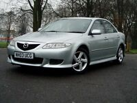 2003 Mazda 6 1.8Ts. 80000 Miles Only. Mot August. Service History. Sports Body Kit. Bargain £799.