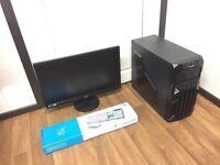 Custom Built Gaming Computer PC, Full Setup with Monitor (intel Quad Core, 4GB RAM, 1TB, GT 710 GPU)