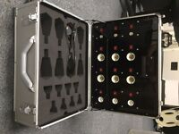 Flight case with wheels, handle and power input