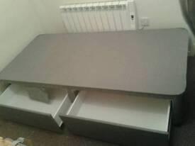 Single bed base+mattress