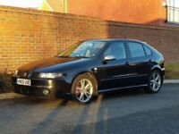 Seat Leon FR TDI (150) + 2005/05 + PEARL BLACK + 6 SPEED GEARBOX + FSH + 150 BHP + DIESEL + FACELIFT