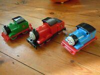 Thomas tank, Percy and James trains