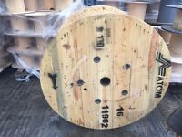 Wooden cable drum 1300mm o/d for upcycle into table etc can deliver locally for additional fee
