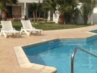 Paphos Cyprus studio apartment holiday home near Coral Bay / Peyia + pool. Modern very new to rent.