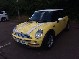 Mini Cooper 2001 - yellow, manual, petrol, 124091 miles - MOT to 31 July 2019