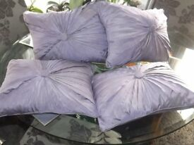 4 LOVELY OBLONG FEATHER FILLED CUSHIONS