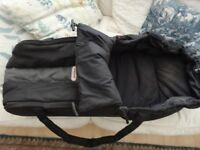 PHIL & TED COCOON BABY PRAM CARRIER/CARRYCOT ... BLACK/GREY
