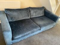 3 seater and love seat, blue sofology sofas