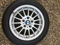 BMW 4 X 16 Inch Alloy Wheels with Dunlop Winter Tyres.