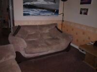 Two Seater Sofa Bed / Metal double Bed