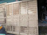 4 6x6 fence panels brand new no offers buyer collects