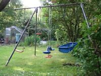 TP Triple Swing Set with Extension and extra swing seat