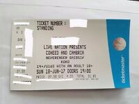 1x Coheed and Cambria ticket 18th June 2017 KOKO, London