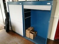 roller shutter storage cabinet with