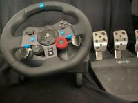 PS4 steering wheel with peddles
