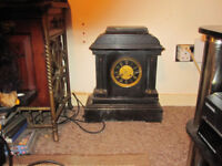 black marble mantle clock chimer