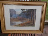 Antique signed watercolour painting