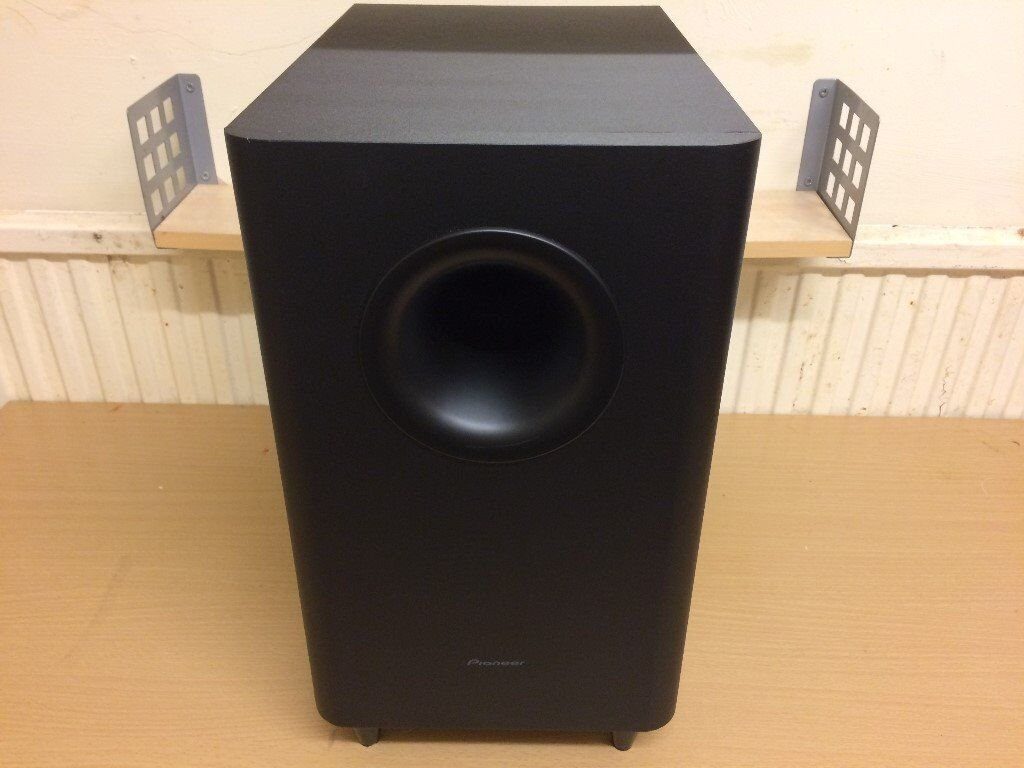 Pioneer S-22W-P Home Cinema Passive Subwoofer, High Quality Deep Bass Reflex Sound, Fully Working.
