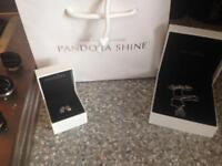 Pandora necklace with free earings