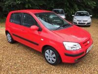 Hyundai Getz 1.1 CDX 5dr£1,685 p/x welcome FREE WARRANTY. NEW MOT