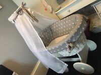 Moses Basket With Beautiful Drape