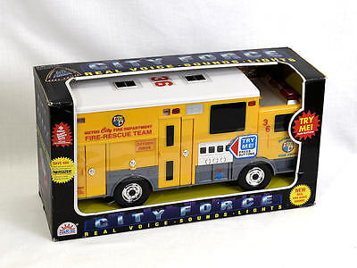 Vintage Funrise Metro City Fire Rescue Truck 36 Yellow Model Toy NEW 02032