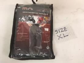 Motorcycle over trousers. Waterproof scooter trousers. Size XL. NEW.