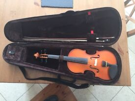 3/4 stentor violin and case for sale. Very good condition.