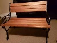 Victorian cast iron bench
