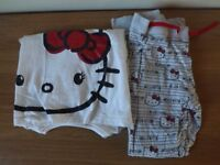 Girls Marks and Spencer Hello Kitty Pyjamas Age 9-10