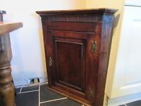Antique Oak Corner Cabinet Cupboard