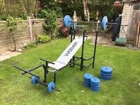 Weider bench and Olympian weights