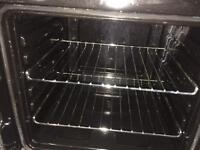 Black & silver flavel 50cm gas cooker grill & oven good condition with guarantee