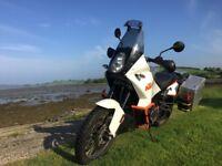 KTM 990 Adventure Motorbike. Touratech/Leovince/Pirelli/Zen Overland