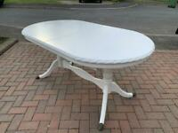 Large Painted Mahogany Extending Dining Table